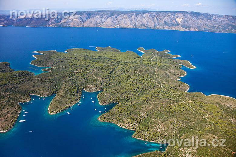 Letecké snímky ostrova Hvar