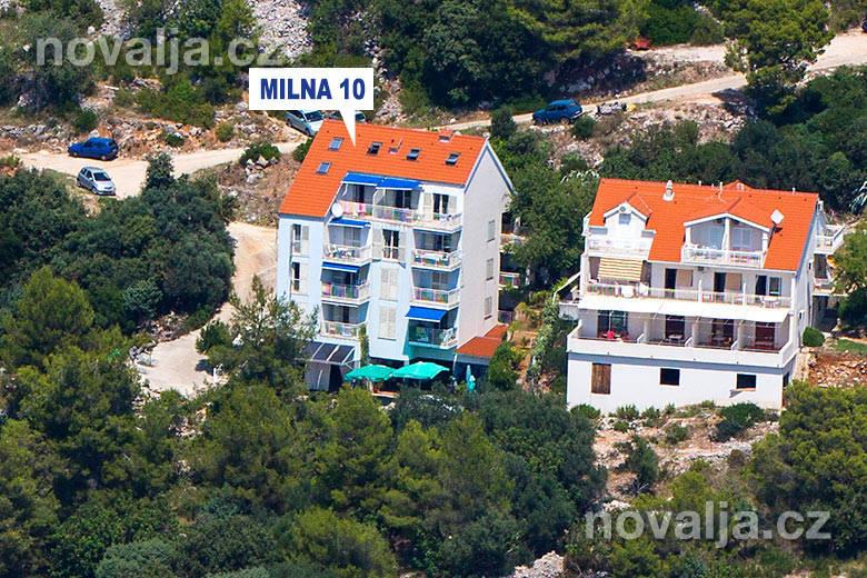 Apartmány Milna 10 -Hvar -Milna