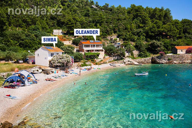 Apartmány u moře chorvatsko