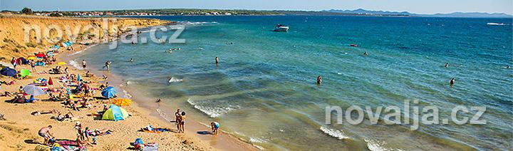 Pisecne Plaze Chorvatsko Vhodne Pro Deti Novalja