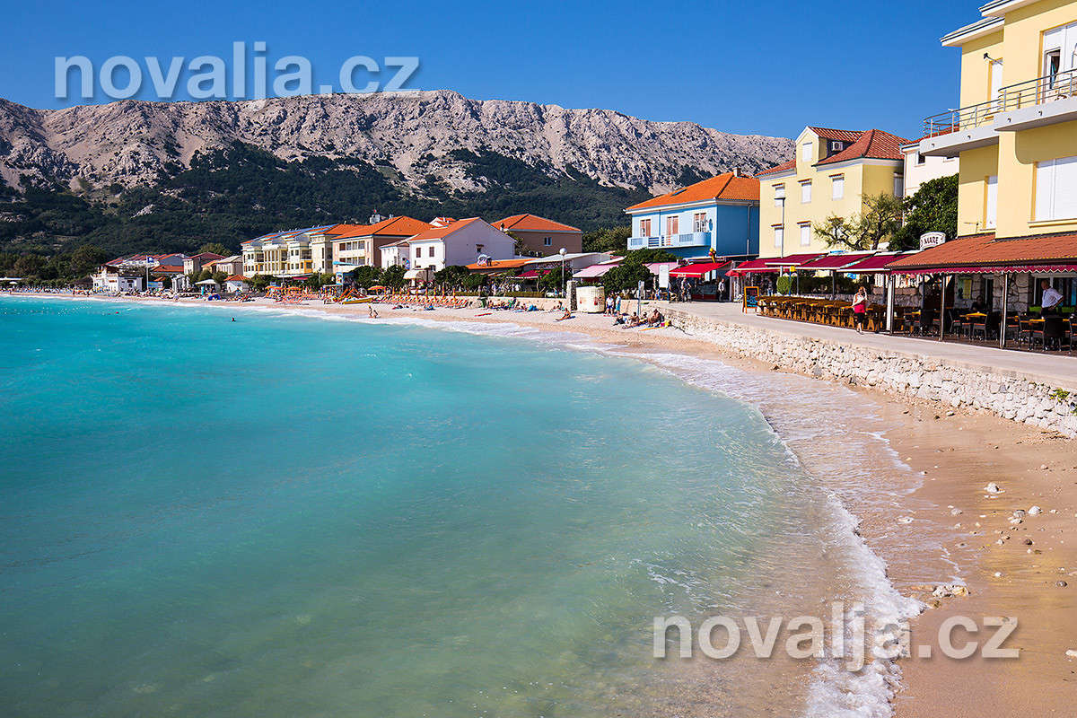 Baška, ostrov Krk, Chorvatsko