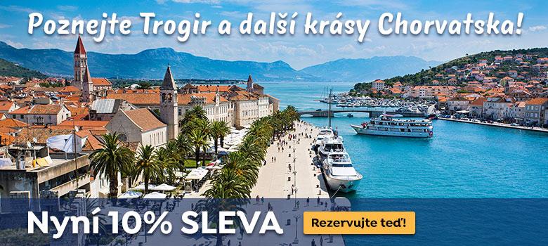Poznejte Trogir a další krásy Chorvatska. Nyní 10% SLEVA!